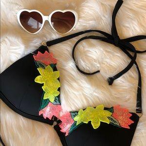 👒 Padded Floral Triangle Bikini